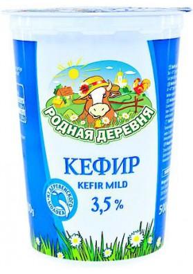 Кефир 3,5% жирн.500мл 1/12 Rodn.Derewnja