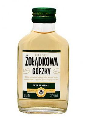 PL Водка Zoladkowa gorzka  Мятная 30% 0,09л 1/24