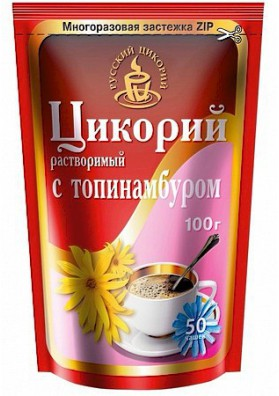 Цикорий растворимый с топинамбуром 100г 1/12