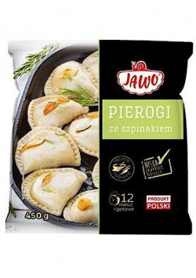 PL Пироги сo шпинатом 450г 1/10 Jawo замор.