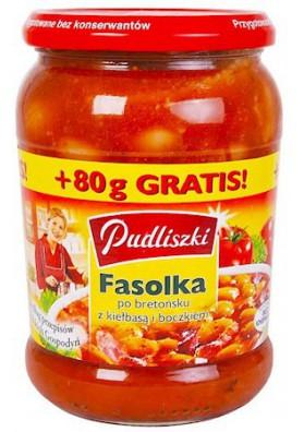 PL Фасоль По-Бретонски 500г 1/8 Pudliszki