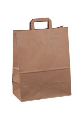 Бумажные пакетики 320+170х440мм коричневый 1/250Шт