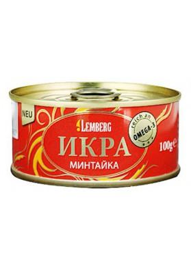 Икра минтая Минтайка с соей 100г 1/36 LG