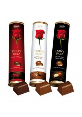 Bombones de chocolate DOLCE ROSA en tubo  VOBRO 12x 96g