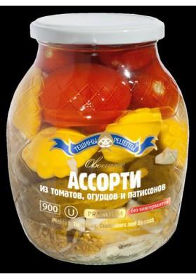 Surtido de tomate,pepinos y calabazas  PREMIUM 840gr TR