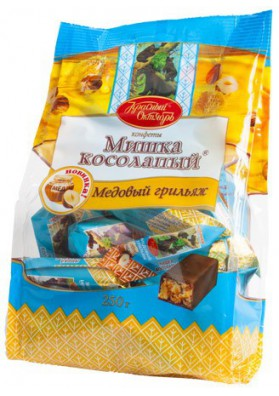 Bombones  MISHKA KOSOLAPIY MEDOVIY GRILIAZH 250gr KO