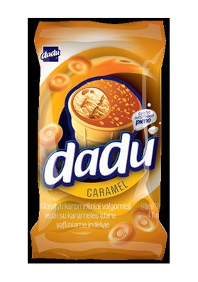 Helado sabor caramelo 36x120ml DADU