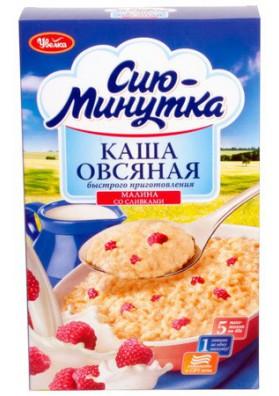 Каша овсянная вкус малина со сливками 5х40гр УВЕЛКА