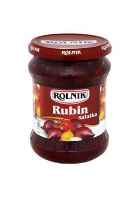 Салат овощной  РУБИН 6х450гр ROLNIK