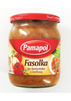 Alubias con salchicha en salsa de tomate  FASOLKA 500gr PAMAPOL