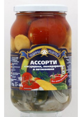 Surtido de tomate+pepinos +calabaza sonetera concervados 12x920gr TR