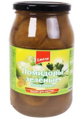 Tomates de varil verde 12x860gr EMELYA