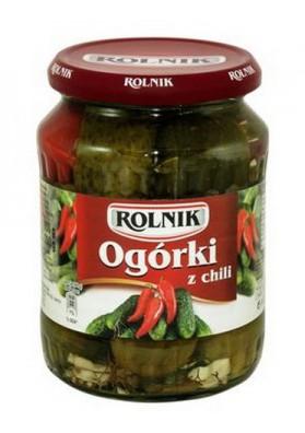 Pepinos concervado con pimiento chili 6x720ml ROLNIK