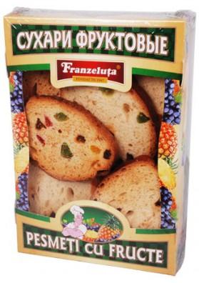 Pan tostado con frutas 13x250gr FRANZELUTA
