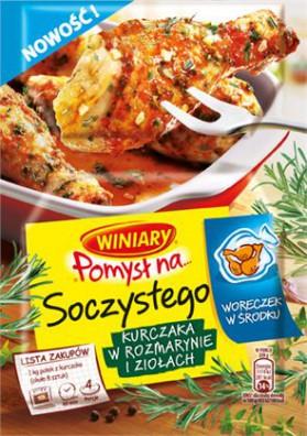 Condimiento para pollo con romero y hierbas 32x35g WINIARY