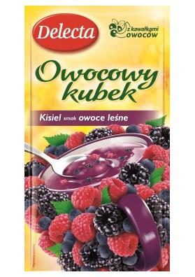Kisiel con trozos de frutas del bosque 30x30gr DELEKTA
