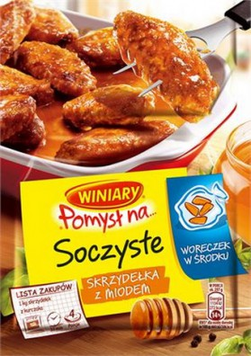 Especia para alitas con miel 32x28gr WINIARY