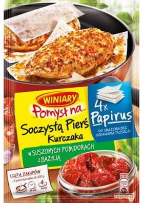 Приправа для куриной грудинки с помидорами и базиликом 34х24,4гр WINIARY