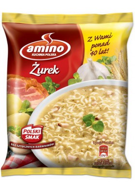 Sopa secoZUREK con fideos 22x65gr AMINO