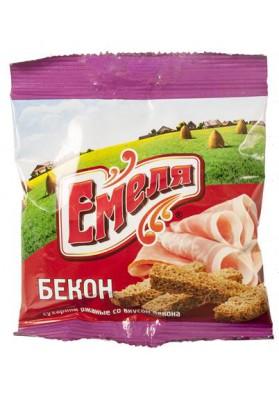Picatostes de pan de centeno sabor beicon 60x40gr EMELYA