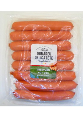 SOKOLOW Salchichas CRENVUSTI HOT DOG 1kg DUNAREA DALICATETE
