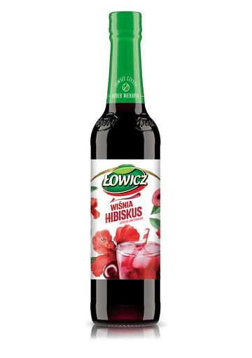 Jarabe sabor de guinda y hibisco 6x400ml LOWICZ