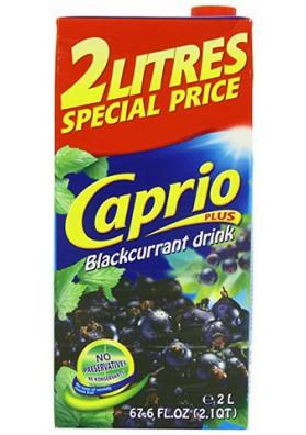 Bebida con jugo de grosella negra 6x2L CAPRIO