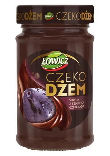 Crema CHOCOJAM de ciruela con chocolate belgica 8x250gr LOWICZ
