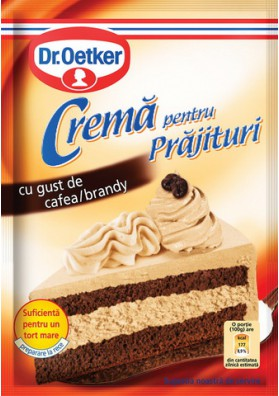 Crema para tarta sabor cafe y brandy 25x50gr Dr.Oetker