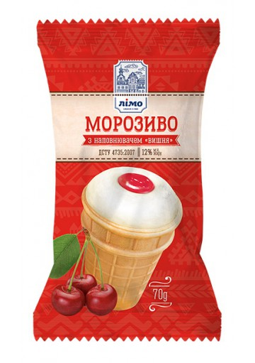 Helado de vanilla relleno GUINDA 30x70gr LIMO