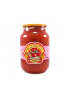 Помидоры неочищенные в томатном соусе 6x875гр. ГОСПОДАРОЧКА