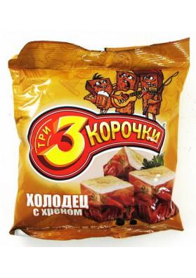 Сухарики ржаные вкус холодец с хреном 60x45гр ТРИ КОРОЧКИ