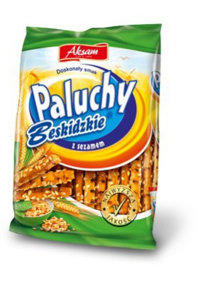Palitos de pan con cesamo  PALUSZKI  24x60gr  AKSAM