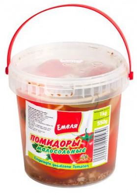 Tomate poco salados en cubo 1L EMELYA