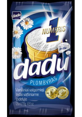 Helado PLOMBIR vanilla 36x120ml. DADU