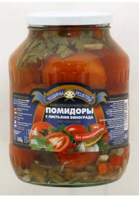 Tomates concervados con hojas de uva 6x1600gr TR