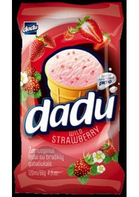 Helado de vanilla con sabor de fresa 36x120ml DADU