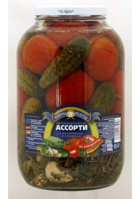 Surtido de tomates+pepinos concervados 5x3450gr TR