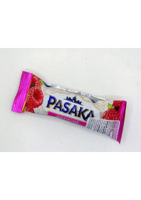 Requeson dulce bañado en chocolate blanco sabor frambuesa 24x40gr PASAKA