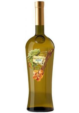 Vino blanco semidulceMUSKAT MIGDAL 11%alk.12x0.75L