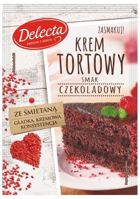 Крем для торта шоколадный 15х122гр DELECTA
