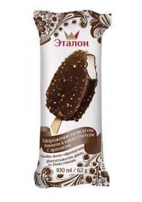 Helado bañado en chocolate con cacahuete 21x100ml ETALON