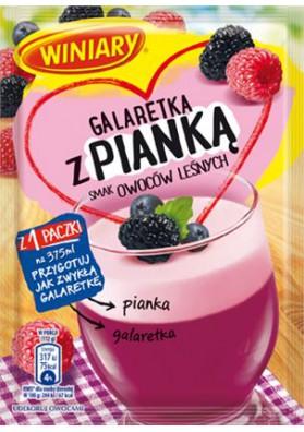 Желе с пенкой вкус лесная ягода 25х72гр WINIARY