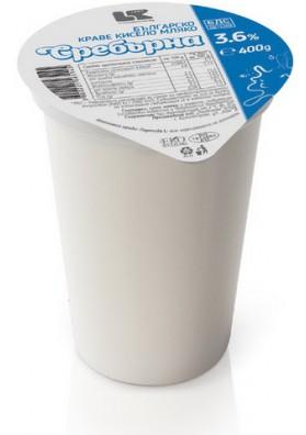 Кефир 3,6%жир.12х400гр СРЕБЬРНА