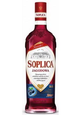 Licor SOPLICA con sabor de arandano negro 30%alc 500ml CEDC