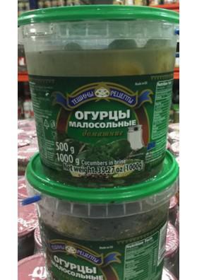 Pepinos poco salados en cubo 6x1000gr.TR