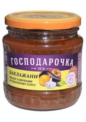 Баклажаны с овощами в томатном соусе 12х420гр ГОСПОДАРОЧКА