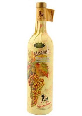 Vino blanco semidulce  MUSCAT 12%alk.12x0.75L BOSTAVAN