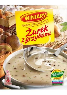 Sopa  ZUREK con setas 30x49g  WINIARY