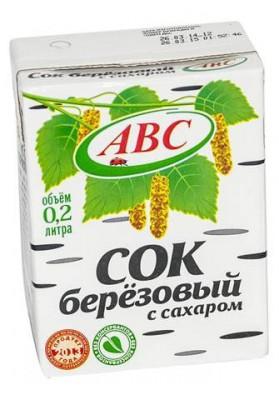 Zumo de abedul con azucar 0.2L ABC